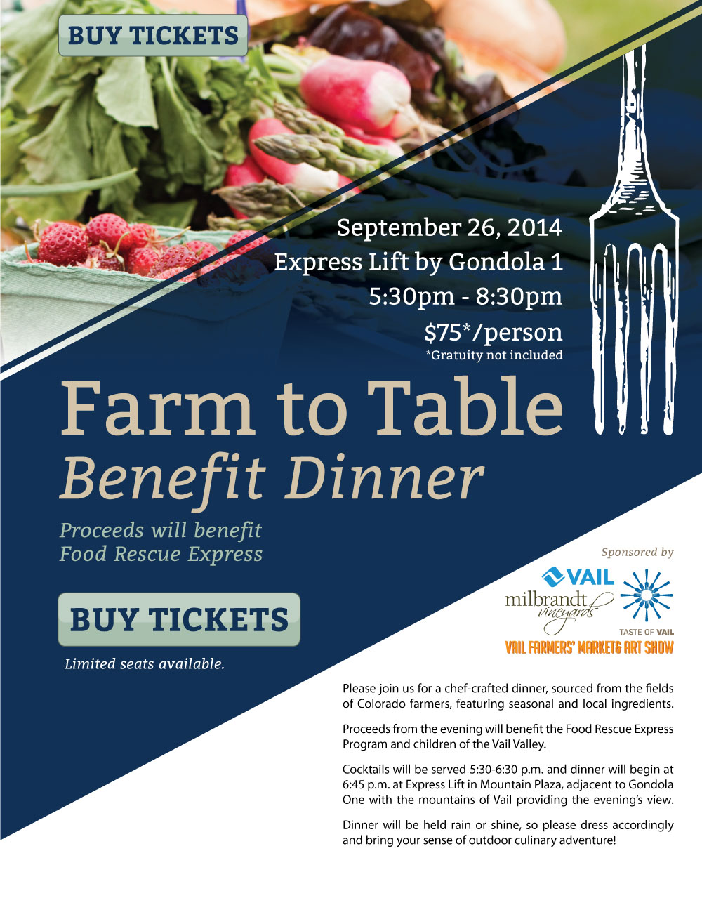 farm to table benefit dinner vail co